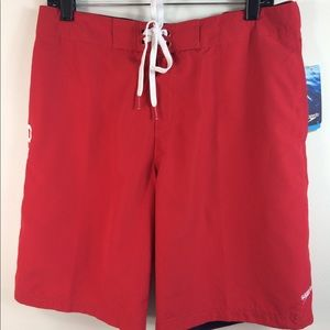 🌷3/$20 NWT Speedo Guard S Red Shorts